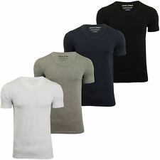 Jack & Jones Mens S/S Vee Neck T-Shirt - Slim Fit