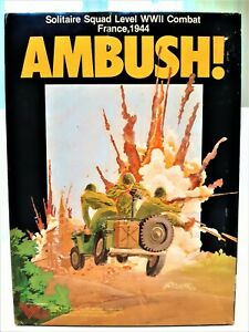 Ambush 1983 Victory Games Solitaire Squad Level WWII Combat: France 1944