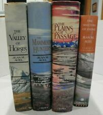 Jean Auel 4 book Lot: Earth's Children: Valley of Horses, Mammoth Hunters, Plain