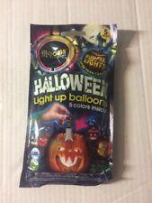 Illooms LED Balloons Light Up Halloween Pumpkin Lights New 5 Pack 5 Colors