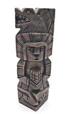 "Vintage Wood Mayan? Incan? 7.75"" Tall Rustic Wolf? Dog? on Head"