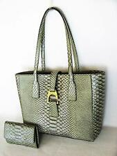 Dooney & Bourke Small Shannon Metal Green Croc Leather Tote Purse 9b9b