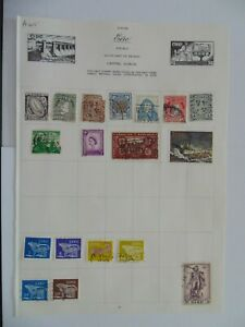 PA 405 - Page Of Mixed Eire Stamps