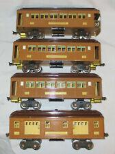 1926-1939 LIONEL #309 #309 #310 #312 PASSENGER CARS. STD. GA. TRAIN. STATE BRN.