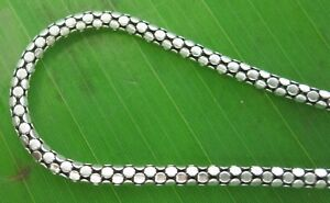 """REAL 925 sterling silver 2.5mm Wide """"OXIDISED CHAIN NECKLACE"""" 40 - 60cm UNISEX"""