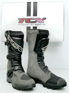 NEW TCX TRACK EVO WATERPROOF BOOTS ANTHRACITE GRAY 8.5 US - 42 EU