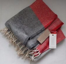 Cannon River 100% wool throw handcrafted in USA stripe