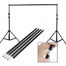 10FT Adjustable Background Photo Studio Backdrop Support Stand Hang Crossbar Kit