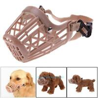Adjustable Basket Dogs Muzzle Cover Straps Mesh Bite Bark Chew Control