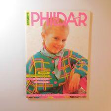 1987 PHILDAR mailles 142 tricot patron couture mode enfant vintage France N6934