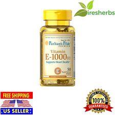 Vitamin E-1000 IU Supports Heart Health Skin & Immune Functions Supplement 50ct