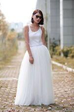 ON Sale Ivory/White Long Tulle Skirt Women Maxi Wedding Skirts Party Full Length