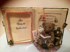 "New,ceramic,Teddy bear photo frame,Childhood memories,like a book,3.5"" x 2""photo"