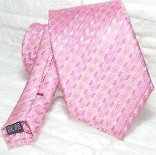 Cravatta uomo rosa geometrica design TOP Quality NOVITÀ Made in Italy 100% seta