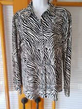 Chico's Knit Zebra Print Blouse - Size 1