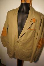 ORVIS Zambezi Leather Trim Sz 42Safari Field Coat Barn Jacket Chore Coat     o34