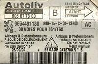 Calculateur d'air bag AUTOLIV Peugeot 307 9654491180 606877300