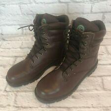 Brahma Dakota Mens 12 W Wide Steel Toe Brown Leather Work Safety Boots j3k