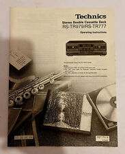 technics stereo double cassette deck RS-TR979/RS-TR777 operating instructions
