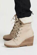 NEW! SOREL After Hours Shearling Boot Women's 10 Oatmeal Waterproof Leather $260