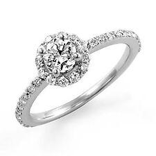 0.77Ct Round Diamond Solitaire Engagement F-G Wedding Ring 14k White Gold SZ 6.5