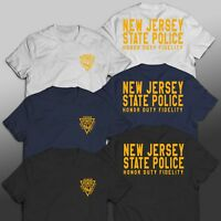 New Jersey Police Department Unit Rescue Custom T-Shirt Tee