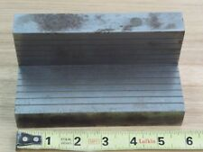 VINTAGE LARGE MAGNETIC angle plate setup brass steel layered milling lathe #2