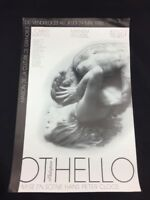 SHAKESPEARE OTHELLO HANS PETER CLOOS AFFICHE ORIGINALE 1986 GRENOBLE FRANCE