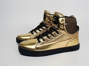 Vlado Footwear Mens Jazz Hi Top Fashion Sneakers IG8100 GLD