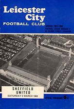Leicester City v Sheffield United programme, Division 1, March 1968