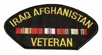 IRAQ AFGHANISTAN VETERAN W/ SERVICE RIBBONS PATCH OIF OEF ENDURING IRAQI FREEDOM