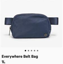 New Lululemon Everywhere Belt Bag Iron Blue Fanny Pack Classic Nylon