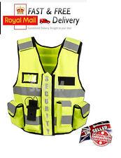 More details for tactical security duty patrol vest hi viz yellow sia industry door staff