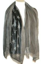 John Varvatos Collection American Gray Flag Print Scarf
