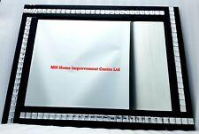 Black Wall Mirror Sparkly Silver Crystal Border 60X80cm.