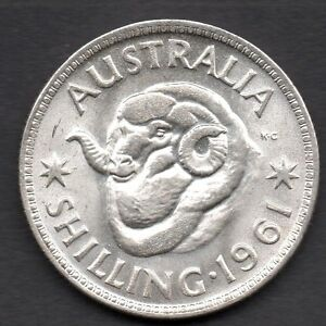 1961   AUSTRALIAN SHILLINGS (1/-)  -  *** CHOICE UNCIRCULATED CONDITION ***