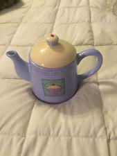 RAYWARE PURPLE YELLOW COFFEE CUPCAKE ROUND TEA POT PITCHER!