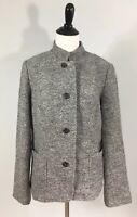 Talbots Jacket 12 Gray Wool Blend Lined Long Sleeve Single Slit New