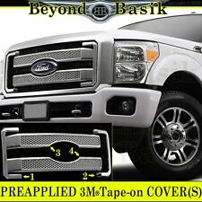 2011-2016 FORD F250 F350 PLATINUM Style Chrome Grille Grill COVER Overlay Insert