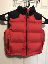 Polo Ralph Lauren Boys Puffer Down Vest Size 2T Red Black