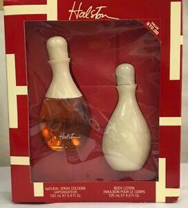 Halston for Women Spray Cologne 3.4 oz , Body Lotion 4.2 oz set