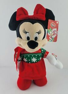 """Disney Just Play 13"""" Dancing Singing Christmas Minnie Mouse 2015 Deck the Halls"""