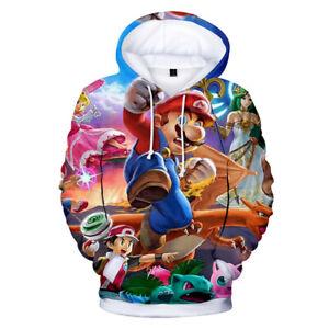 Super Mario Bros Brawl Hoodie Jacket Gaming Jumper Ash Link Wii U SNES 3DS AUS