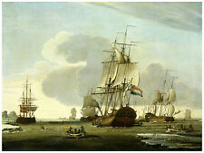 "Maritime ""The Groenlandvaarder...on a Whale Hunt"" Jochem de Vries ca. 1772"