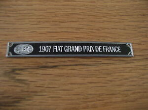 Pocher 1/8 1907 Fiat Grand Prix De Francia Racer Metallo Display Placca