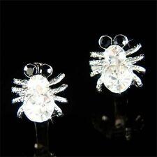 w Swarovski Crystal Halloween Poison Spider Arachnids Toxic Huggie hoop Earrings
