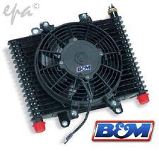 """B&M SUPERCOOLER TRANSMISSION OIL COOLER W/FAN 13.5""""X9""""X3.5"""" FAN 9.5"""" BM 70297"""