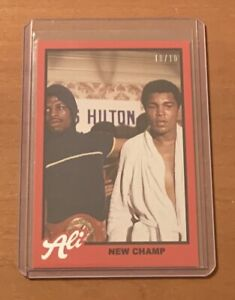 2021 TOPPS MUHAMMAD ALI #70 NEW CHAMP - NUMBERED 10/10 RED PARALLEL