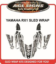 YAMAHA RX1 SKULL SLED WRAP  Decals  Graphics rx-1