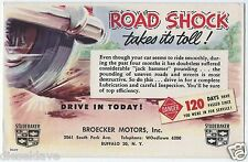 NY BUFFALO New York BROECKER MOTORS Studebaker Advertising Litho Postcard VG+/Ex